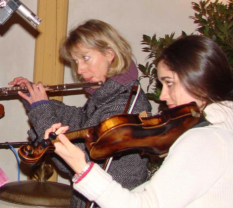 Violine und Querflöte