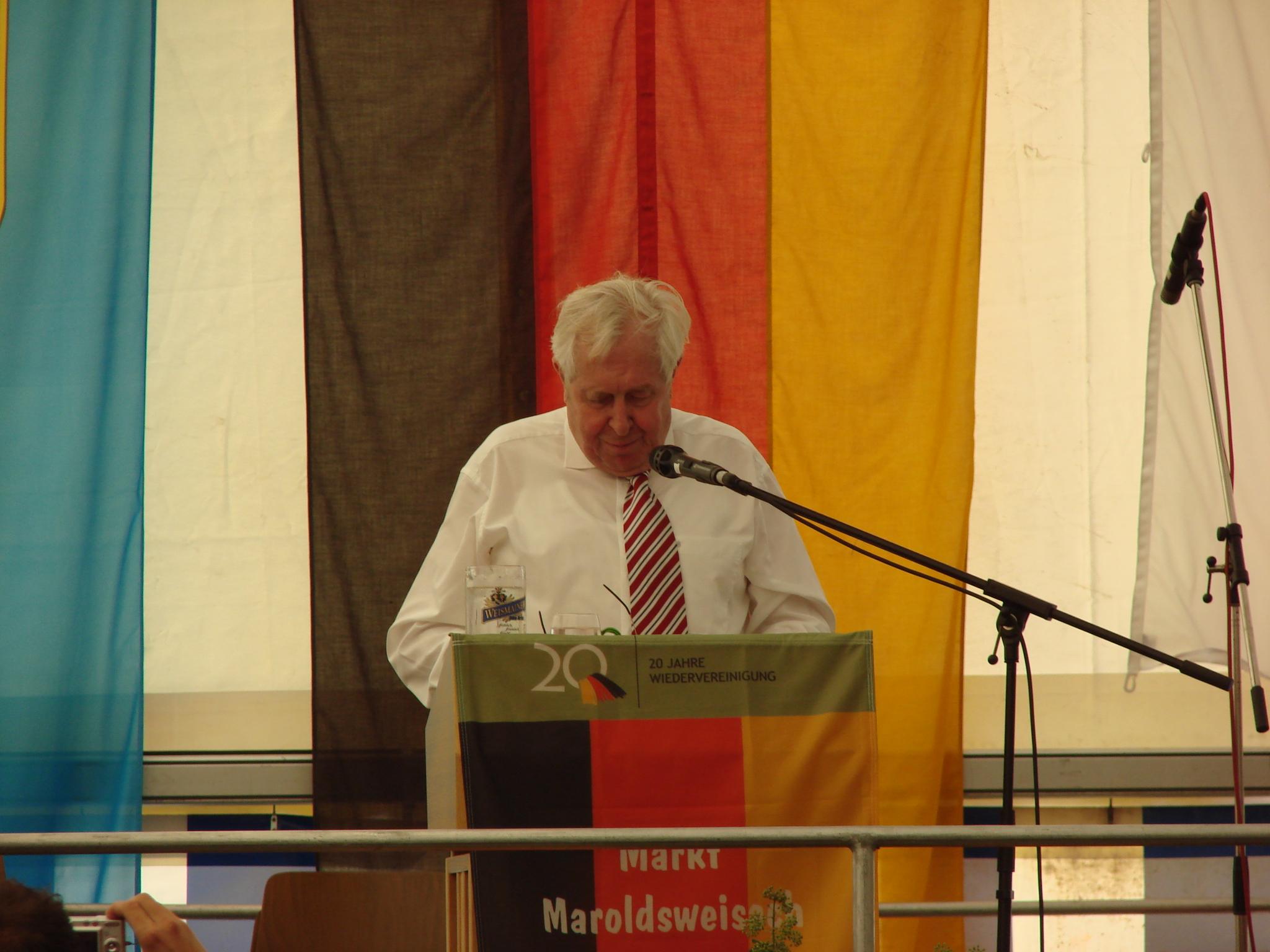 Festredner Ministerpräsident a.D. Dr. Bernhard Vogel